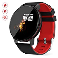 GOKOO Smart Watch for Men Women with Activity Fitness Tracker Waterproof Smartwatch with Heart Rate Blood Pressure Sleep Monitor Pedometer Remote Camera Music Control Calorie Step Full Touch Screen