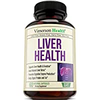 Liver Health Detox Support Supplement. Natural Herbal Blend with Artichoke Extract, Milk Thistle, Turmeric, Ginger, Beet Root, Alfalfa, Zinc, Choline, Grape and Celery Seed. 60 Capsules