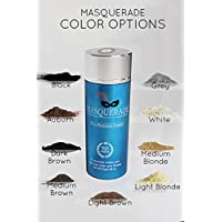Masquerade Dark Brown Hair Building Fiber, Hair Powder to give Men and Women a Full Thicker Looking Head of Hair .25g/.88oz bottle for Thinning hair. Natural Hair Loss Concealer Available in 9 Colors