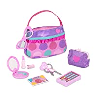 Play Circle by Battat – Princess Purse Style Set – Pretend Play Multicolor Handbag and Fashion Accessories – Toy Makeup, Keys, Lipstick, Credit Card, Phone, and More for Kids Ages 3 and Up (8 pieces)