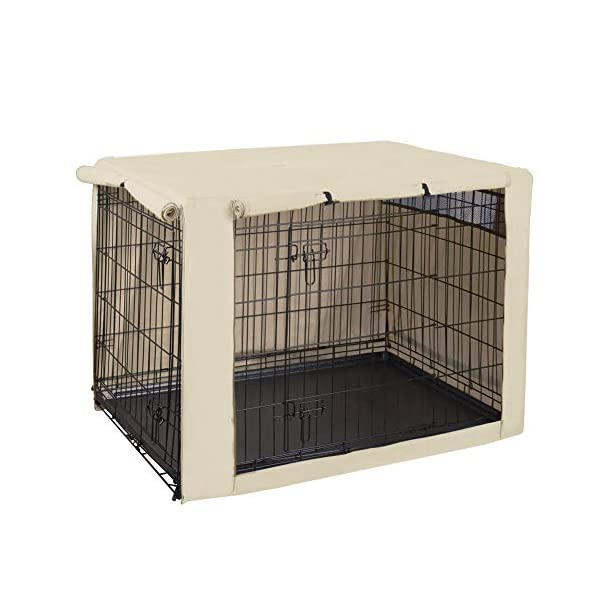 Avanigo Black Dog Crate Cover for 24 36 42 48 Inches Metal Crates Wire Dog Cage,Pet Indoor//Outdoor Durable Waterproof Pet Kennel Covers