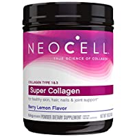 NeoCell Super Collagen Powder, Berry Lemon 19oz, Non-GMO, Grass Fed, Paleo Friendly, Gluten Free, Collagen Peptides Types 1 & 3 for Hair, Skin, Nails and Joints (Packaging May Vary), 71 Servings