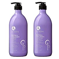 Biotin & Collagen Shampoo Conditioner Set,Thicking Shampoo for Hair Loss & Fast Hair Growth, Sulfate & Paraben Free, Keratin & Color Safe, 2x33.08oz