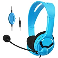 AmazonBasics Gaming Headset For Nintendo Switch, Xbox One, PlayStation 4 and PC - Blue