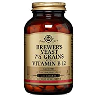 Solgar - Brewer's Yeast 7 1/2 Grains with Vitamin B12, 250 Tablets