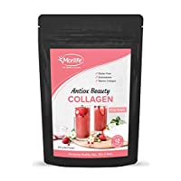 Morlife Antiox Beauty Collagen Powder 300g - Berry Delight | Skin Supplements | Marine Collagen with Antioxidants | Hydrolyzed Collagen Supplements | Super Collagen Hydrolysate Peptides | 27 Servings