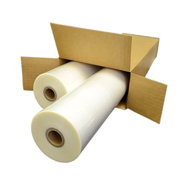 USI WrapSure Standard Thermal Roll Laminating Film 1 Inch Core 12 Inches x 250 Feet Clear 2-Pack 3 Mil Gloss Finish