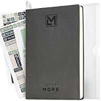 """Little More Daily Organizer Planner in Protect Box - Undated Productivity Planner for Achieve Goals - A5 Vegan Leather 5.5""""x8.5"""