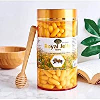 THAILAND-NATURE'S KING-ROYAL JELLY 1000MG 100 CAPSULES Made from nutritious substance that has the power to change worker bee into queen bee who lives 30 times longer!