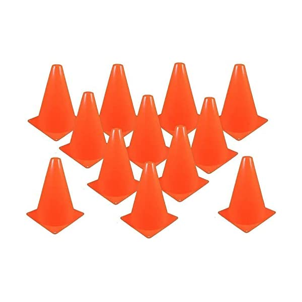 Ifavor123 Plastic Orange Traffic 7 Inch Cones for Sports Training Construction Theme Party Events Outdoor Indoor Multipurpose Use