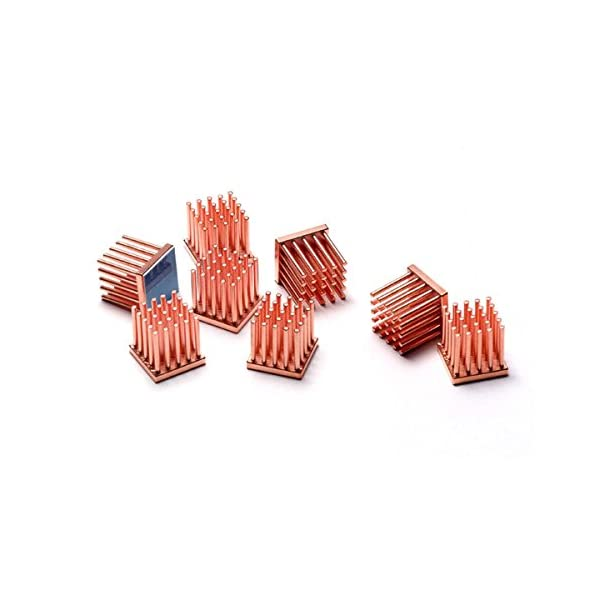 uxcell 8 Pcs Copper Memory IC Chipset Cooling Heatsink 22mm x 8mm x 5mm for DDR RAM VGA