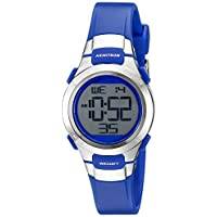 Armitron Sport Women's 45/7012BLU Silver-Tone Accented Digital Chronograph Blue Resin Strap Watch