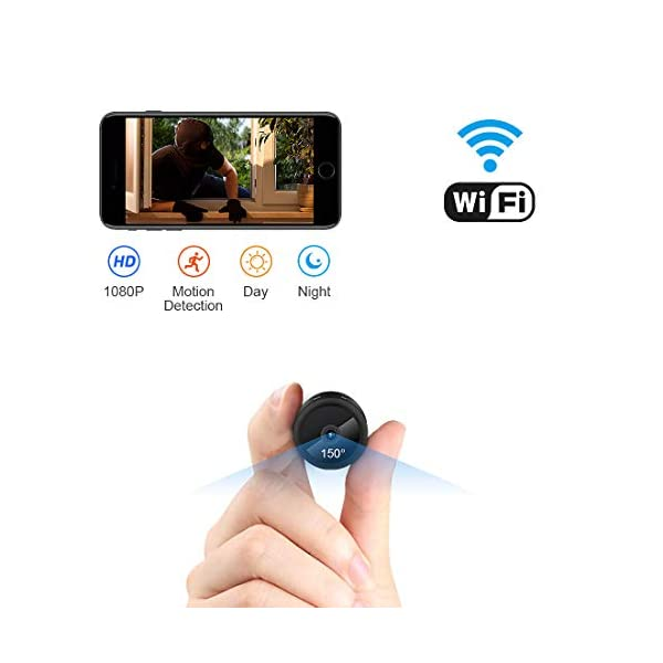 FULAO Mini Spy Camera WiFi Hidden Camera Wireless HD 1080P Indoor Home Small Spy Cam Security Cameras Nanny Cam with Motion Detection Night Vision for iPhone Android Phone iPad PC spy Camera