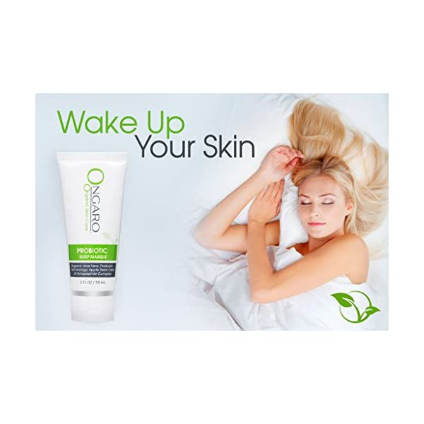 Probiotic Sleep Mask; Anti-Aging Night Mask Hydrates, Firms and Tones Skin While You Sleep; Hyaluronic Acid, Plant Stem Cells, Peptides and Vitamin E | 2oz