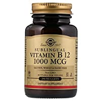 Solgar Vitamin B12 1000 mcg, 250 Nuggets - Supports Production of Energy, Red Blood Cells - Healthy Nervous System - Promotes Cardiovascular Health - Vitamin B - Non-GMO, Gluten Free - 250 Servings