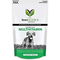 VetriScience Laboratories 90 Count Canine Plus Multivitamin, 30 Chews Per Pack