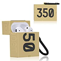Air 6 and 1 Generations Design Protective Case for Airpods Soft Shell Jordan Sneakers Cool Street Fashion Rapper Travis Scott Collbaboraton Reverse Check Mark Air 1 Travis, 1st//2nd Gen