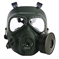 VILONG M04 Airsoft Tactical Protective Mask, Full Face Eye Protection Skull Dummy Game Mask with Dual Filter Fans Adjustable Strap for BB Gun CS Cosplay Costume Halloween Masquerade