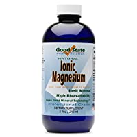 Good State Ionic Magnesium 8 oz - Natural - Nano Sized Mineral Technology - Professional Grade - Supports Healthy Chemical & Enzymes Reactions - 96 Servings (8 fl oz)