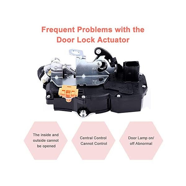 ECCPP Fits for 2008-2012 Chevrolet Malibu 2008-2009 Saturn Aura Rear Left Door Lock Latch and Actuator 931-334