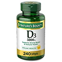 Vitamin D3 by Nature's Bounty, Supports Immune Health & Bone Health, 5000IU per Serve, 240 Softgels