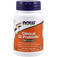 NOW Supplements, Clinical GI Probiotic, 50+ Formula, Strain Verified, 60 Veg Capsules