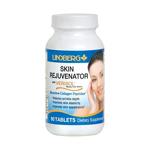 Lindberg Skin Rejuvenator with Verisol, 45 Tablets, Bioactive Collagen Peptides