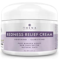 Redness Relief Face Cream Rosacea Skin Care With Manuka Honey Calendula Colloidal Oatmeal, Natural Rosacea Treatment for Eczema Acne Anti Itch Dry Skin Organic Facial Cream Moisturizer Lotion Products
