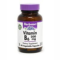 BlueBonnet Vitamin B-6 200 mg Vegetable Capsules, 90 Count (743715004320)