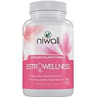 Niwali EstroWellness Pills for Hormonal Balance & Menopause Relief for Women | Menopausal Hot Flashes and PMS Relief | Restores Healthy Estrogen Levels | 60 Non-GMO Vegetarian Capsules