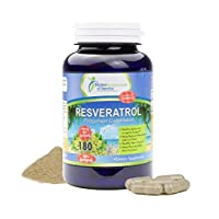 Resveratrol 1500mg Per-Serving All Natural Antioxidant Supplement Promotes Good Cardiovascular Health & Well Being. 180-Capsules