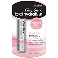 Chapstick Total Hydration (Pink Nude Tint, 1 Blister Pack of 1 Stick) Tinted Moisturizer, 100% Natural Lip Color & Lip Treatment, 0.12 Oz