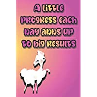 BLOOD PRESSURE: Lama - A Little Progress Each Day Adds Up To Big Results- 120 Pages Log Book: Monitor & Record Blood Pressure, Heart Rate, ... & Health Tracker Planner Journal (6 x 9