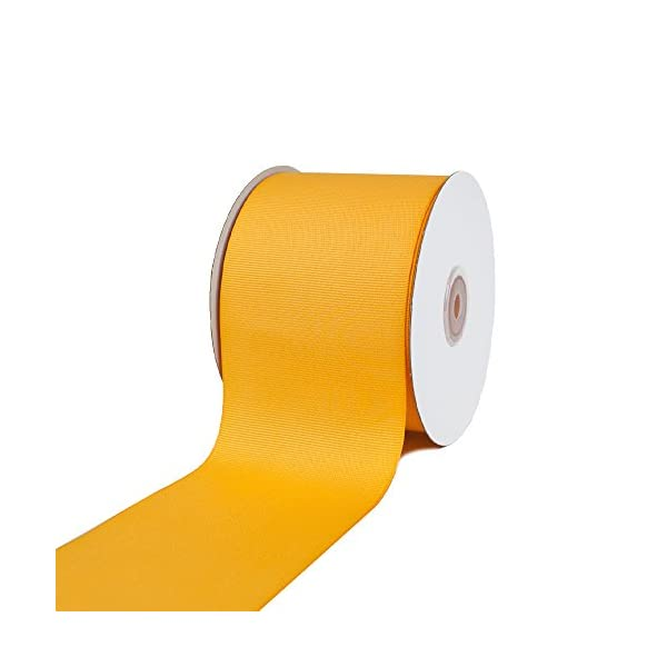 Creative Ideas 3 Solid Grosgrain Ribbon Canary Yellow 25 yd