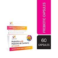 vH essentials Probiotics with Prebiotics and Cranberry Feminine Health Supplement - 60 Capsules