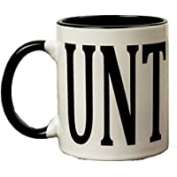 Adult Humour Rude Gift Cup Ceramic UNT CUNT With Black Handle Ceramic Coffee Tea Mug Cup