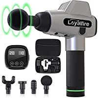 Deep Tissue Massage Gun, Loyalfire Portable Muscle Percussive Massager for Pain Relief, Handheld Cordless Design Full Body Muscle Massager Drill