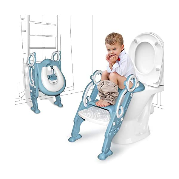 Kids Potty Training Seat with Step Stool for Child Toddler Toilet Ladder Chair