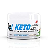 BPI Sports Keto Slimming Cream – Ketogenic Diet Support – Skin Firming, Skin Toning, Reduce Cellulite – Bhb Salts, Bodyfit & Phytosonic – Coconut Scent – Topical Cream – 8 Oz.