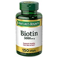 Nature's Bounty Biotin 5000 mcg, 150 Softgels