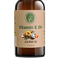 Vitamin E Oil Organic and Natural by Mother Nature's Essentials Highest Quality Vitamin E Oil d-Alpha-tocopherol, WildCrafted Coconut Oil, Organic Jojoba, Natural Vitamin C. 1 Ounce.