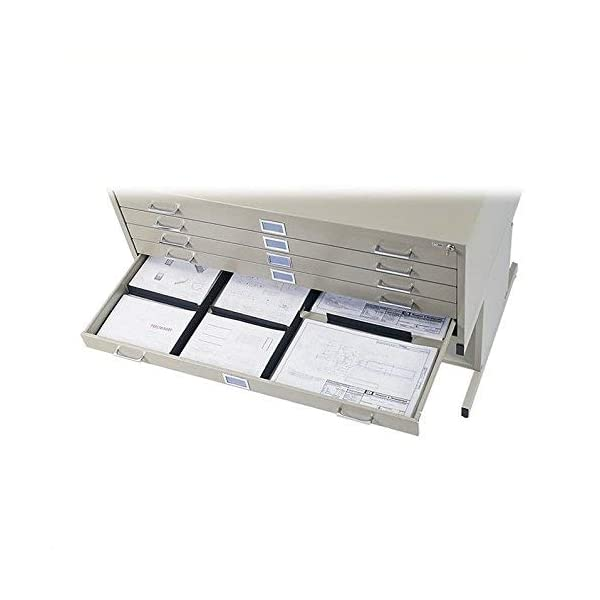 Gray 10-Drawer Safco Products 4986GR Flat File for 42W x 30D Documents Additional options sold separately