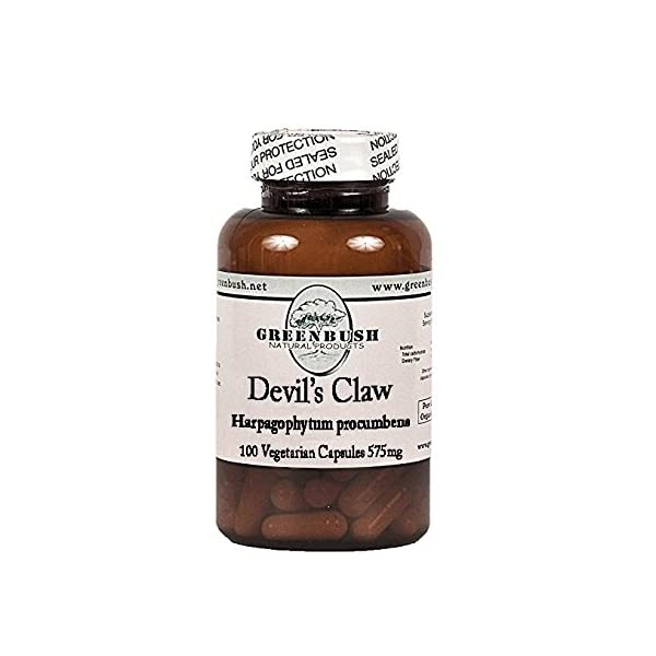 Devil's Claw Root 100 Pure Natural Vegetarian Capsules 575mg. for Joint Pain, Muscle Pain, as a Fever Reducer, Digestive Tonic, and Blood Purifier. Top Quality and Potency, No Additives.
