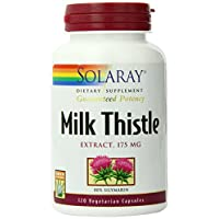 Solaray Milk Thistle Seed Extract 175mg | Antioxidant Intended to Help Support a Normal, Healthy Liver | 120 VegCaps