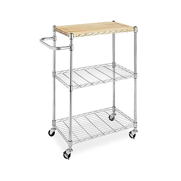 Supreme Kitchen And Microwave Cart Wood