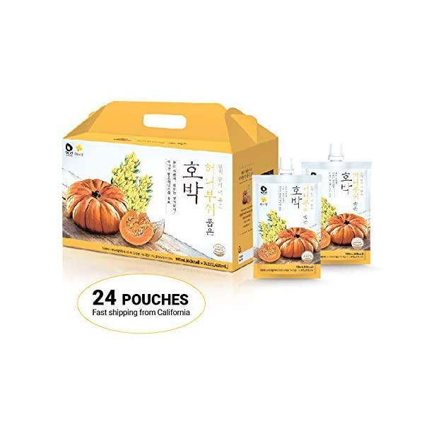 InnerSet Honeybush Pumpkin Nutricosmetic Beauty Drink - 100 ml x 24 pouches - Fermented Extract, Skincare Patented Formulation/Made in Korea/Ships from US California