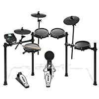 Alesis Drums Nitro Mesh Kit | Eight Piece All Mesh Electronic Drum Kit With Super Solid Aluminum Rack, 385 Sounds, 60 Play Along Tracks, Connection Cables, Drum Sticks & Drum Key included