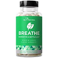 BREATHE Sinus & Lungs Breathing – Seasonal Nasal Health, Immune Support, Open & Clear Airways, Bronchial Wellness, Healthy Chest – Quercetin, Nettle Leaf, Bromelain Pills – 60 Vegetarian Soft Capsules