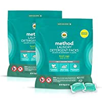 Method Laundry Detergent Packs, Beach Sage, 24.7 Ounce (Pack of 2)