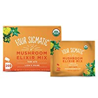 Four Sigmatic Lion's Mane Mushroom Elixir, Organic Lion's Mane Mushroom Powder with Rhodiola & Rose Hips, Immune & Memory Support, Paleo, Pack of 20